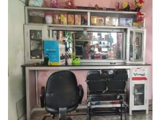 Beauty Parlor - Mirror ,Rack,chair for sale